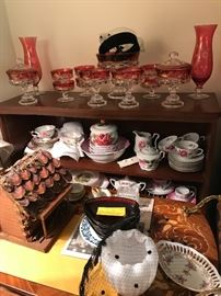 Ruby glass and old hats