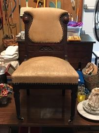 This chair is in mint condition including the porcelain wheels very cool