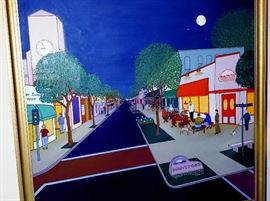 Oil painting by our gifted client of downtown Montrose