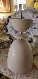 Large Mcm Kpm.White glaze spike candle holder