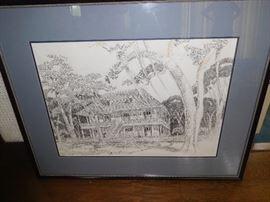 Large drawing of Parlange Plantation