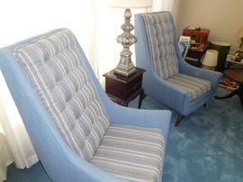 Original early 1960s high back chairs