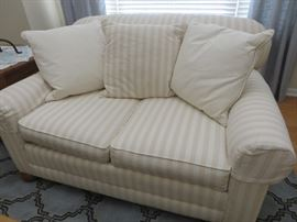 STRIPED LOVESEAT LOOSE BACK PILLOW