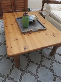 PINE COFFEE TABLE POTTERY BARN