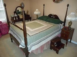 Four Poster , Full Size bed , with newer mattress