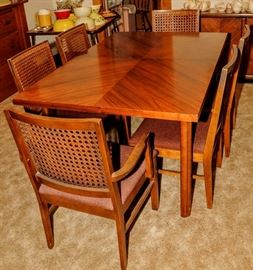 ART DECO STYLE DINING ROOM SET [BUFFET - TABLE AND CHAIRS