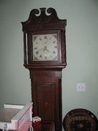 antique 19th century grandfather clock by Pryor, signed