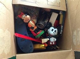 ONE BOX OF MANY VINTAGE Mickey Mouse AND DISNEY COLLECTIBLES