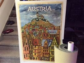 VINTAGE AUSTRIA travel poster one of over 50 we have found