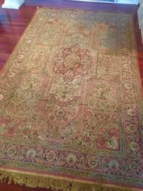 Silk on silk handmade rug