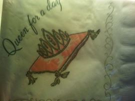 retro Queen for a Day napkins front