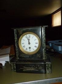 Antique cast iron clock
