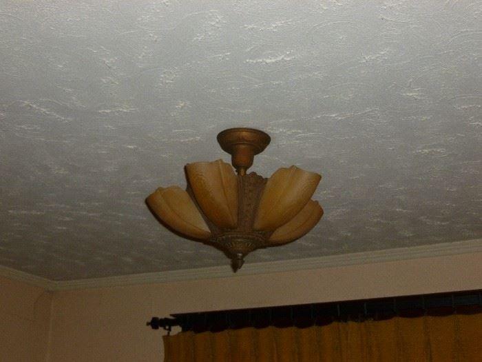 Gorgeous 5 light slip-shade fixture