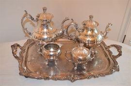 Eaton silver-plate tea set