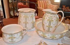transferware porcelain ironstone chamber set