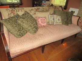 Metelasse fabric covered Sheraton sofa. pillow  and trow not for sale