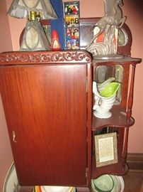 Vintage music cabinet (items on cabinet not for sale)
