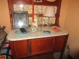 Antique wash stand (not all items on stand will be for sale)