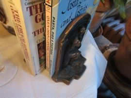 Vintage The Thinker bookends