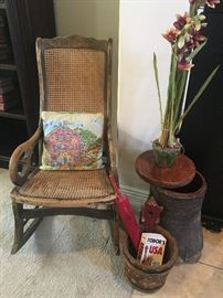 Fantastic rocking chair with vintage home decor