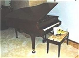 Chickering Baby Grand Piano and Stool Plus Music