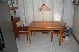 Mid Century Modern Kitchen Table and 2 chairs