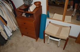 Danish End Table and Stool