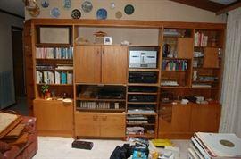 Designer Bookcase Mid Century