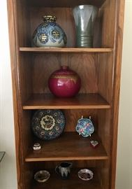 Bookcases & collectibles