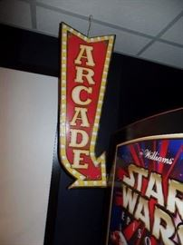 Arcade sign  - reproduction