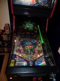 Star Wars pin ball machine (better pictures Thursday)  buy it now: $6,500.