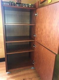 "1 of 2 Matching teak cabinets - 4'11H "" X 27""W"