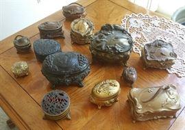 vintage jewelry caskets