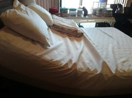 Tempur-Pedic Bed in up position.