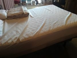 Tempur-Pedic with foot end elevated.