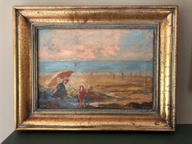 Rockaway Beach Oil Painting
