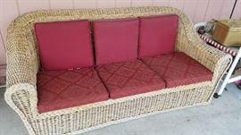Cane Sofa...yum, yum.