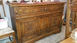 Love this early Century Detailed Credenza Buffet/Side Chest
