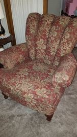 Rust/Red Floral Chair by LaZBoy England