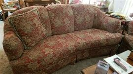 Rust/Red Floral Sofa by LaZBoy England