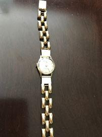Vintage ladies gold watch