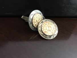 14k and silver cuff links