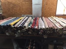 More rolls of fabric