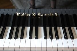 Like new, Black Lacquer Baby Grand Piano by Kohler and Campbell