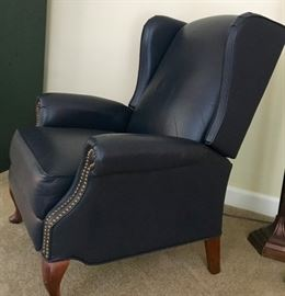 Leather Recliner with nail head trim