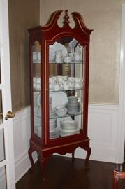 Loaded Curio Cabinet in Wood and Glass