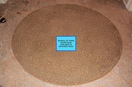 Several Round Rugs in Assorted Sizes