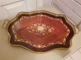 Italian inlaid tray