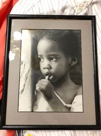 The cutest little black girl ever!!! Balck and White Photo