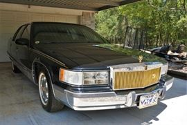 1995 Cadillac Brougham with approx 3000 miles - we will be taking sealed bids on the car and WILL NOT be sold prior to the sale